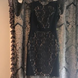 Adrianna Papell black and  lace dress